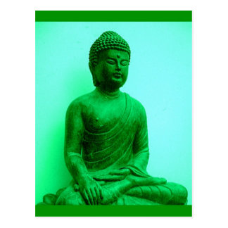 Buddha Green Bronze Statue by Sharles Postcard