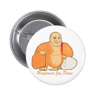 Buddha Happiness Joy Peace Buttons