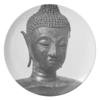 Buddha Head - 15th century - Thailand Plate