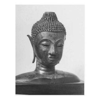 Buddha Head - 15th century - Thailand Postcard