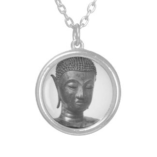 Buddha Head - 15th century - Thailand Silver Plated Necklace