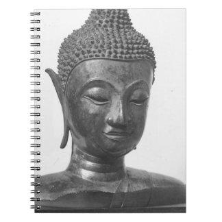 Buddha Head - 15th century - Thailand Spiral Notebook