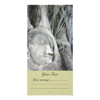 Buddha Head Photo Card