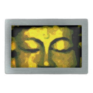 Buddha head rectangular belt buckles