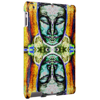 """Buddha Heads"" Psychedelic Art iPad Case"