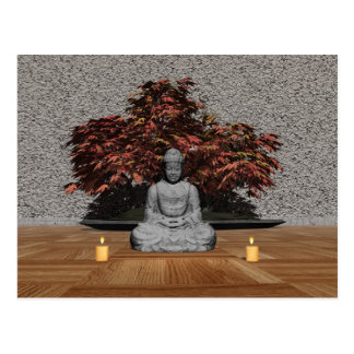 Buddha in a room - 3D render Postcard