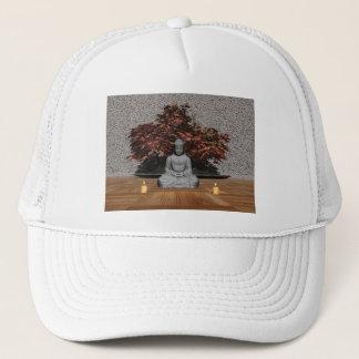 Buddha in a room - 3D render Trucker Hat