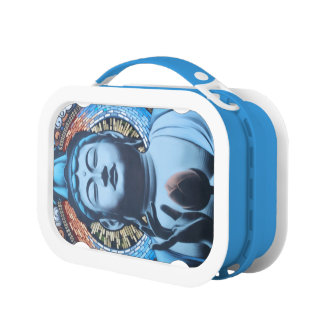 Buddha in Blue Lunch Boxes