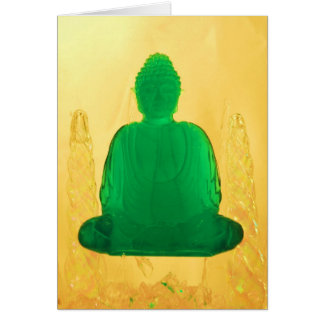 buddha in gold card