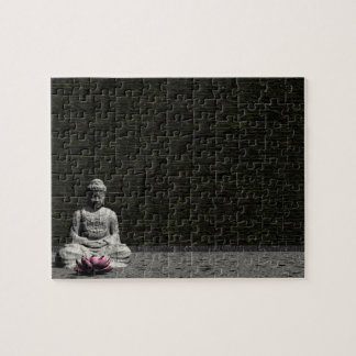 Buddha in grey room - 3D render Jigsaw Puzzle