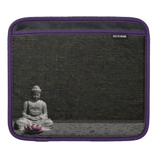 Buddha in grey room - 3D render Sleeves For iPads