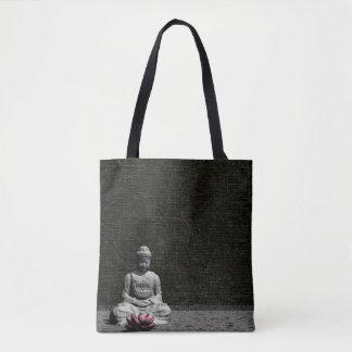 Buddha in grey room - 3D render Tote Bag