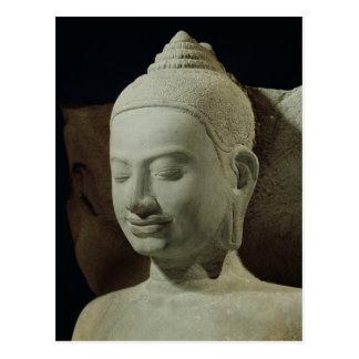 Buddha in Meditation on the Naga King, Postcard
