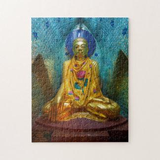 Buddha In Ornate Alcove Jigsaw Puzzle