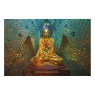 Buddha In Ornate Alcove Wood Wall Decor
