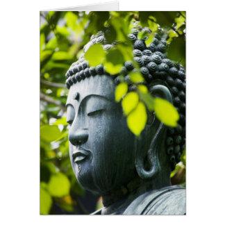 Buddha in Senso-ji Temple Garden Card