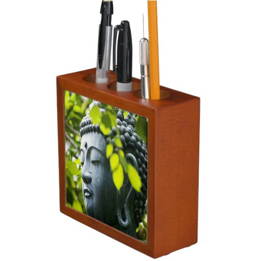 Buddha in Senso-ji Temple Garden Pencil Holder