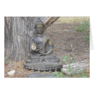 Buddha in the Woods Card