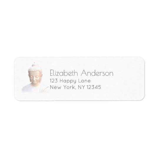 Buddha In White | Serene Meditative And Calm Return Address Label