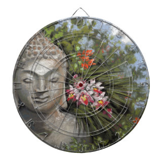 Buddha & Jungle Flowers Dartboard