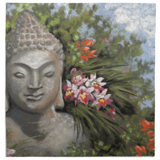 Buddha & Jungle Flowers Napkin