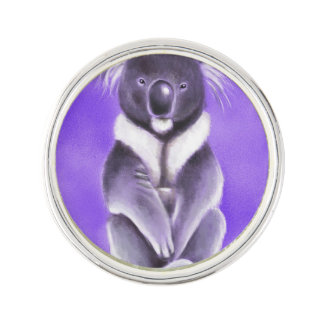 Buddha koala lapel pin