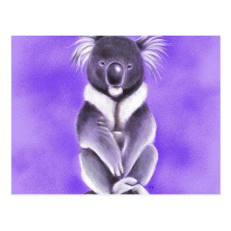 Buddha koala postcard