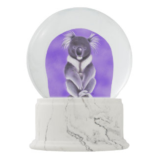 Buddha koala snow globe