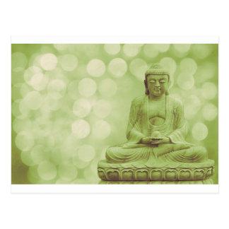 buddha light (light green) postcard