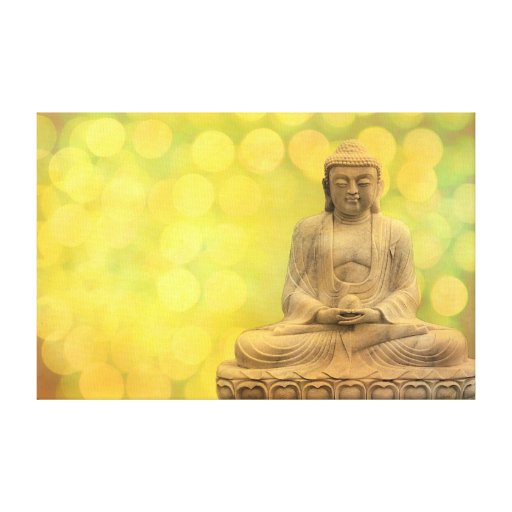 buddha light (yellow) gallery wrapped canvas