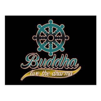 Buddha Live the Dharma Postcard
