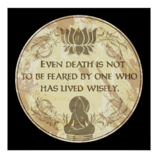 Buddha Live Wisely Print