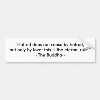 Buddha Love and Peace Bumper Sticker