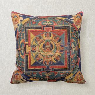 Buddha Mandala Antique Tibetan Thanka Cushion