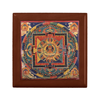 Buddha Mandala Antique Tibetan Thanka Gift Box