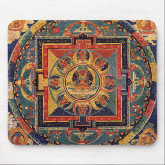 Buddha Mandala Antique Tibetan Thanka Mouse Pad