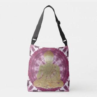 Buddha Mandala applied (rose) Crossbody Bag