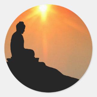 Buddha Meditating Classic Round Sticker