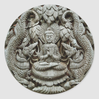 Buddha Meditating Prayer Spiritual Sticker