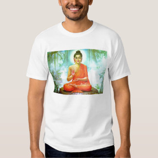 Buddha meditating tee shirts