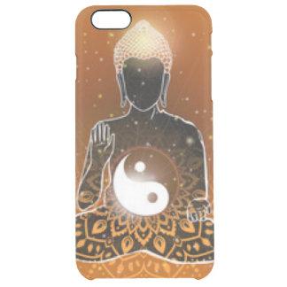 Buddha Meditation Ying Yang Design Clear iPhone 6 Plus Case