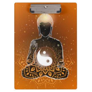 Buddha Meditation Ying Yang Design Clipboard