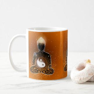 Buddha Meditation Ying Yang Design Coffee Mug