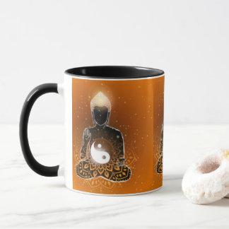 Buddha Meditation Ying Yang Design Mug