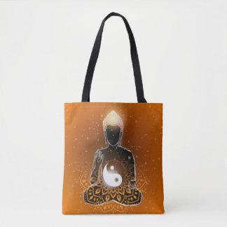 Buddha Meditation Ying Yang Design Tote Bag