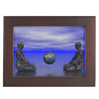 buddha metal and planet keepsake box