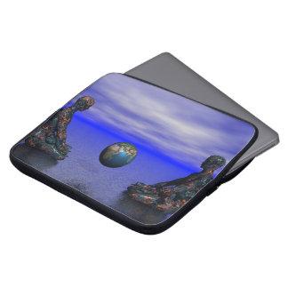 buddha metal and planet laptop sleeve