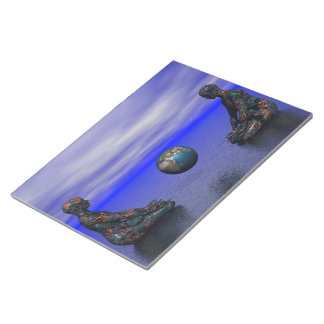 buddha metal and planet notepad