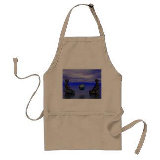 buddha metal and planet standard apron