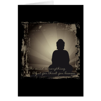 Buddha Mind Is Everything Greeting Card